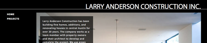 Featured Site – Larry Anderson Construction